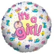 globo de niña de 18 pulgadas
