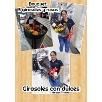 bouquet girasoles y dulces